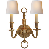 Visual Comfort CHD1122AB E. F. Chapman English 2 Light 10 inch Antique-Burnished Brass Decorative Wall Light in Antique Burnished Brass