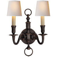 Visual Comfort E.F. Chapman English 2 Light Decorative Wall Light in Bronze with Wax CHD1122BZ