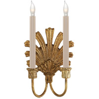 Visual Comfort CHD1126GI E. F. Chapman Marlborough 2 Light 8 inch Gilded Iron with Wax Decorative Wall Light