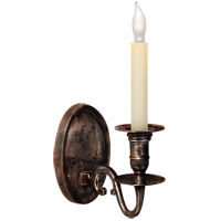 Visual Comfort E.F. Chapman Grosvenor 1 Light Decorative Wall Light in Sheffield Nickel CHD1138SN