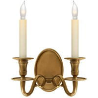 Visual Comfort E.F. Chapman Grosvenor 2 Light Decorative Wall Light in Antique-Burnished Brass CHD1139AB
