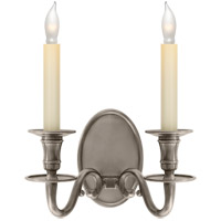 Visual Comfort CHD1139AN E. F. Chapman Grosvenor House 2 Light 11 inch Antique Nickel Decorative Wall Light