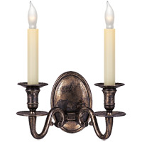 Visual Comfort CHD1139SN E. F. Chapman Grosvenor House 2 Light 11 inch Sheffield Nickel Decorative Wall Light