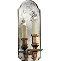 Visual Comfort E.F. Chapman Kensington 1 Light Decorative Wall Light in Antique Mirror with Antique Brass CHD1171AM/AB