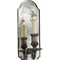 Visual Comfort E.F. Chapman Kensington 1 Light Decorative Wall Light in Antique Mirror with Sheffield Nickel CHD1171AM/SN