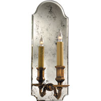 Visual Comfort E.F. Chapman Kensington 1 Light Decorative Wall Light in Antique Mirror with Antique Brass CHD1172AM/AB