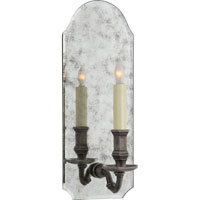 Visual Comfort E.F. Chapman Kensington 1 Light Decorative Wall Light in Antique Mirror with Sheffield Nickel CHD1172AM/SN