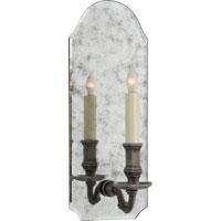 Visual Comfort CHD1172AM/SN E. F. Chapman Kensington 1 Light 6 inch Antique Mirror with Sheffield Nickel Decorative Wall Light