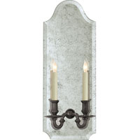Visual Comfort E.F. Chapman Kensington 2 Light Decorative Wall Light in Antique Mirror with Sheffield Nickel CHD1173AM/SN