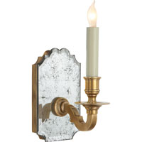 Visual Comfort E.F. Chapman Kensington 1 Light Decorative Wall Light in Antique Mirror with Antique Brass CHD1174AM/AB