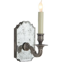 Visual Comfort E.F. Chapman Kensington 1 Light Decorative Wall Light in Antique Mirror with Sheffield Nickel CHD1174AM/SN