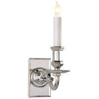 Visual Comfort Chart House Library Wall Sconce in Polished Nickel CHD1175PN