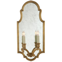Visual Comfort E.F. Chapman Sussex 2 Light Decorative Wall Light in Antique-Burnished Brass CHD1184AB