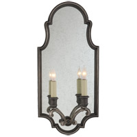 Visual Comfort E.F. Chapman Sussex 2 Light Decorative Wall Light in Sheffield Nickel CHD1184SN