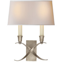 Visual Comfort CHD1190AN-NP E. F. Chapman Cross Bouillotte 2 Light 10 inch Antique Nickel Decorative Wall Light