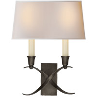 Visual Comfort CHD1190BZ-NP E. F. Chapman Cross Bouillotte 2 Light 10 inch Bronze Decorative Wall Light