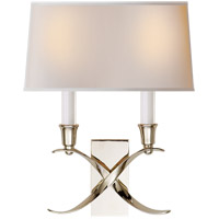 E. F. Chapman Cross Bouillotte 2 Light 10 inch Polished Nickel Decorative Wall Light