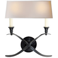 Visual Comfort E.F. Chapman Cross 2 Light Decorative Wall Light in Bronze with Wax CHD1191BZ-NP