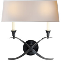 Visual Comfort CHD1191BZ-NP E. F. Chapman Cross Bouillotte 2 Light 15 inch Bronze Decorative Wall Light