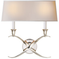 Visual Comfort CHD1191PN-NP E. F. Chapman Cross Bouillotte 2 Light 15 inch Polished Nickel Decorative Wall Light photo thumbnail