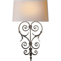 Visual Comfort E.F. Chapman Darlana 1 Light Decorative Wall Light in Aged Iron with Wax CHD1388AI-NP