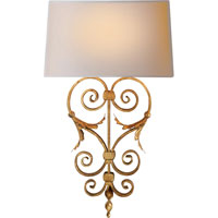 Visual Comfort E.F. Chapman Darlana 1 Light Decorative Wall Light in Gilded Iron with Wax CHD1388GI-NP