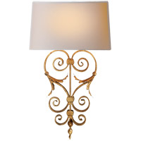 Visual Comfort CHD1388GI-NP E. F. Chapman Emilia 1 Light 14 inch Gilded Iron Decorative Wall Light
