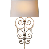 Visual Comfort E.F. Chapman Darlana 1 Light Decorative Wall Light in Rusted White CHD1388RW-NP