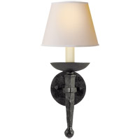 Visual Comfort CHD1404BR-NP E. F. Chapman Iron Torch 1 Light 8 inch Hand Painted Blackened Rust Decorative Wall Light