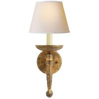 Visual Comfort CHD1404GI-NP E. F. Chapman Iron Torch 1 Light 8 inch Gilded Iron with Wax Decorative Wall Light