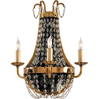 Visual Comfort E.F. Chapman Paris Flea Market 3 Light Decorative Wall Light in Antique-Burnished Brass CHD1408AB-SG