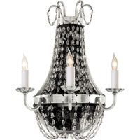 Visual Comfort E.F. Chapman Paris Flea Market 3 Light Decorative Wall Light in Polished Silver CHD1408PS-SG