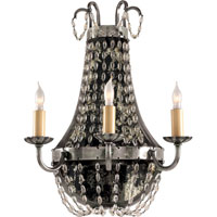 Visual Comfort CHD1408SHS-SG E.F. Chapman Paris Flea Market 3 Light 13 inch Sheffield Silver Decorative Wall Light