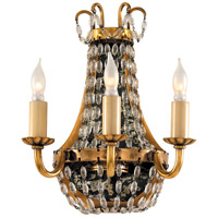 Visual Comfort CHD1409AB-SG E. F. Chapman Paris Flea Market 3 Light 7 inch Antique-Burnished Brass Decorative Wall Light in Antique Burnished Brass
