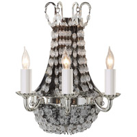 Visual Comfort E.F. Chapman Paris Flea Market 3 Light Decorative Wall Light in Polished Silver CHD1409PS-SG
