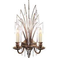 Visual Comfort E.F. Chapman Spray 2 Light Decorative Wall Light in Gilded Iron with Wax CHD1441GI-CG