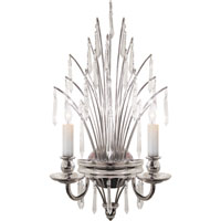 Visual Comfort E.F. Chapman Spray 2 Light Decorative Wall Light in Polished Nickel CHD1441PN-CG