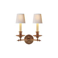Visual Comfort E.F. Chapman Arrow 2 Light Decorative Wall Light in Antique-Burnished Brass CHD1448AB