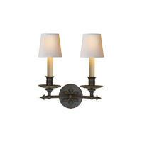 Visual Comfort E.F. Chapman Arrow 2 Light Decorative Wall Light in Bronze with Wax CHD1448BZ