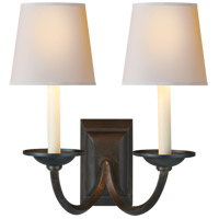 Visual Comfort CHD1496AI-NP E. F. Chapman Flemish 2 Light 13 inch Aged Iron Decorative Wall Light