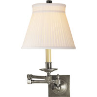 Visual Comfort E.F. Chapman Essex 1 Light Swing-Arm Wall Light in Antique Nickel CHD1502AN-SC