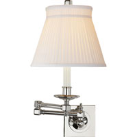 Visual Comfort E.F. Chapman Essex 1 Light Swing-Arm Wall Light in Polished Nickel CHD1502PN-SC