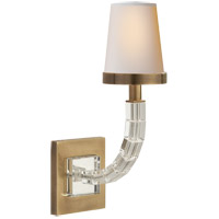 Visual Comfort CHD1508AB-NP E. F. Chapman Crystal Cube 1 Light 4 inch Antique-Burnished Brass Decorative Wall Light