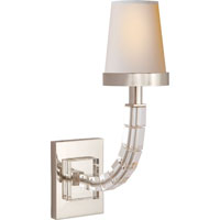Visual Comfort E.F. Chapman Crystal 1 Light Decorative Wall Light in Polished Nickel CHD1508PN-NP
