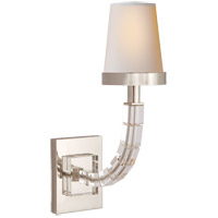 E. F. Chapman Crystal Cube 1 Light 4 inch Polished Nickel Decorative Wall Light