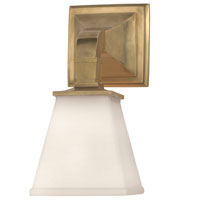 Visual Comfort E.F. Chapman Angle 1 Light Bath Wall Light in Antique-Burnished Brass CHD1510AB-WG