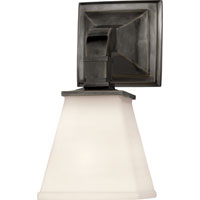 Visual Comfort E.F. Chapman Angle 1 Light Bath Wall Light in Bronze with Wax CHD1510BZ-WG