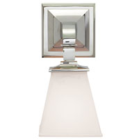 Visual Comfort E.F. Chapman Angle 1 Light Bath Wall Light in Polished Nickel CHD1510PN-WG
