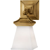 Visual Comfort E.F. Chapman Chinoiserie 1 Light Bath Wall Light in Antique-Burnished Brass CHD1515AB-WG