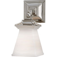 Visual Comfort E.F. Chapman Chinoiserie 1 Light Bath Wall Light in Polished Nickel CHD1515PN-WG